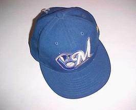 Milwaukee Brewers MLB NL Adult Unisex New Era Blue 100% Wool Cap 7 3/8 New - $32.66