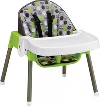 High Chair Baby Infant Toddler Feeding Booster Seat Convertible Dottie Lime - $68.59