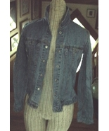 Girls Misses Levis Blue Jean Jacket Silver Tab Size Small Denim  - $8.99
