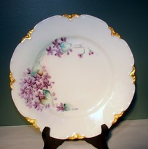 """Early 1900's Haviland France Hand Painted Floral China 8-1/2"""" inch Plate... - $24.74"""