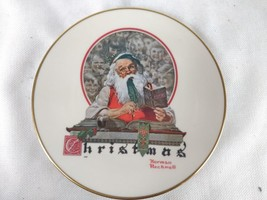 Gorham Norman Rockwell 1977 Yuletide Reckoning Collectors Plate - $15.00