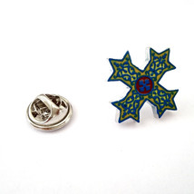 Coptic Cross clip on rear Pin ,Badge / tie pin unisex gift gift boxed