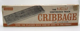 Baron Cribbage Board No. 28/250 Continuous Track Wood 2 & 4 Player Vintage - $24.99