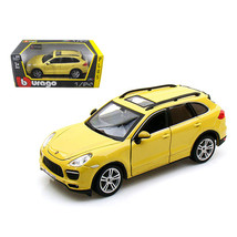 Porsche Cayenne Turbo Yellow 1/24 Diecast Car Model by Bburago 21056y - $48.95