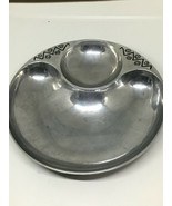 ❤️ WILTON ARMETALE Reggae PEWTER Round Chip and Dip Serving Tray 10 1/2 ... - $13.61