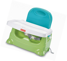 Fisher-Price Healthy Care Booster Seat, Green/Blue - $44.78