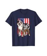 New Shirts - Funny Australian Cattle Dog Tshirt 4th of July American Fla... - $19.95+