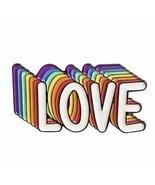 LGBT Gay Pride Love Is Love Rainbow Enamel Brooch Pins Badge Lapel Pins ... - £5.68 GBP