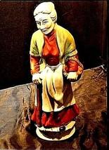 Woman Figurine AA18-1192  Vintage Tall Old image 2
