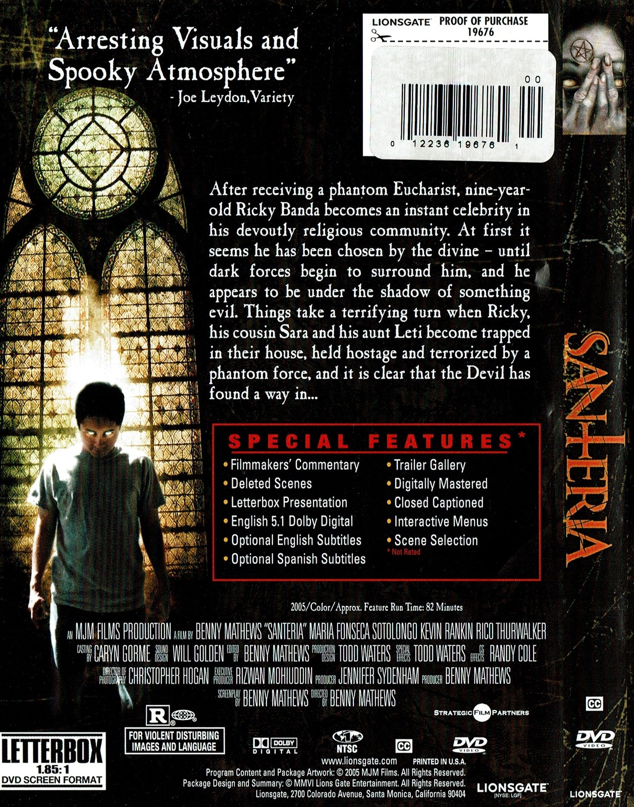 Santeria: The Soul Possessed, DVD, Horror, 2006, Widescreen