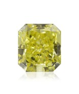 0.54Cts Fancy Intense Yellow Loose Diamond Natural Color Radiant Cut GIA... - $2,158.20