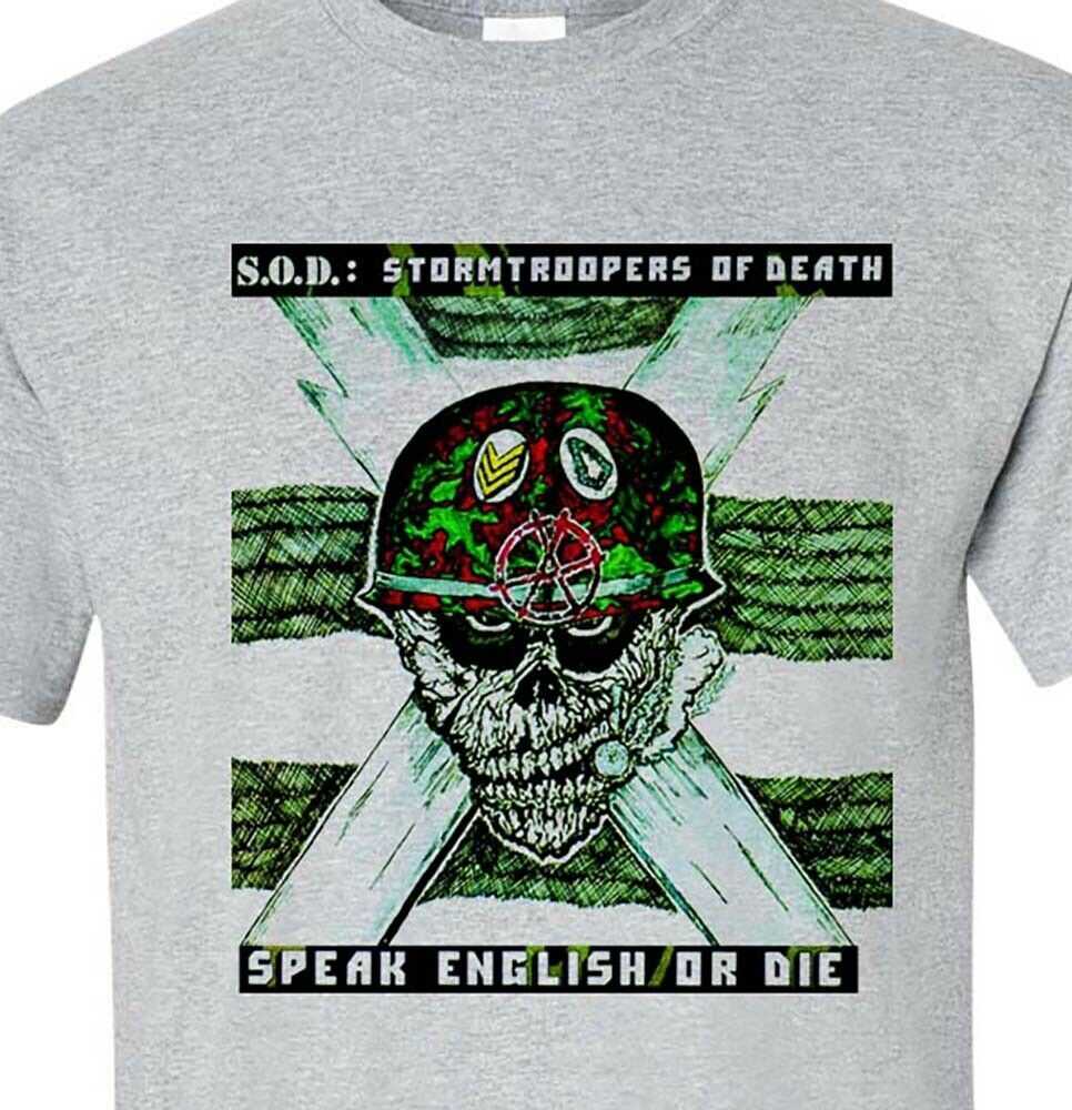 S.O.D. T shirt Stormtroopers of Death 1980's Metal band M.O.D. SOD graphic tee