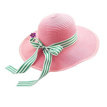 Hat UV Girls Summer Sunscreen Large Brimmed Hat Child Children Folding Beach image 2