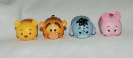 Disney Tsum Tsum 4 Pce Winnie the Pooh Tigger Eeyore Piglet Christopher ... - $5.90