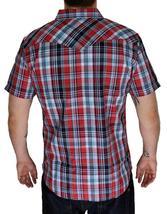 Levi's Men's Classic Button Plaid Red Geometric Shirt 3LYSW6062-App image 4
