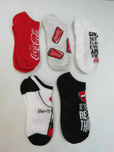 Coca-Cola Womens 5 Pack of No-Show Socks Size 9-11 Shoe Size 4-10 Real T... - $8.42