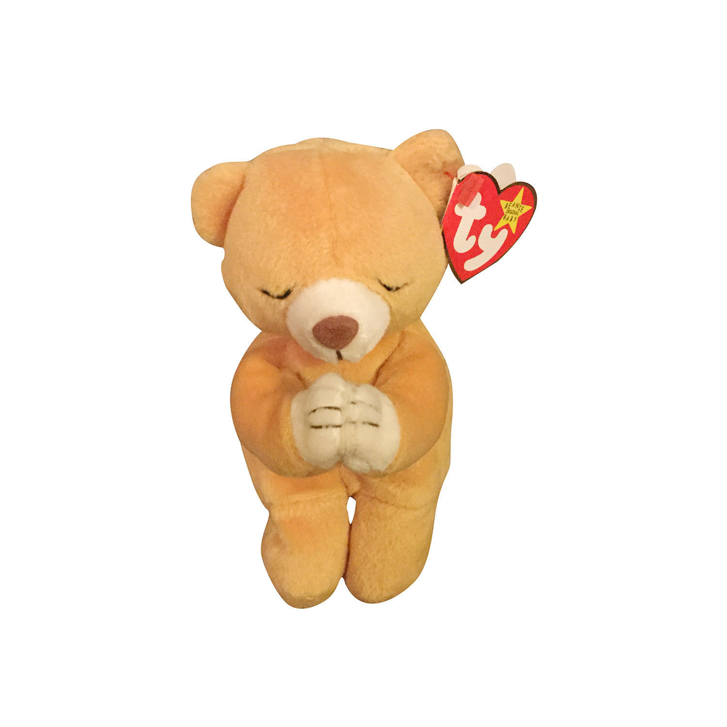 S l1600. S l1600. Retired TY Beanie Babies stuffed toy - Hope the Praying  Bear w  tag errors MWMT. Retired ... 39133539d68c