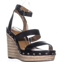 Coach Darcy Ankle-Strap Platform Wedge Pumps, Black, 9.5 US / 39.5 EU - $95.99