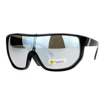 Biohazard Sunglasses Mens Oversized Shield Goggle Frame Mirror Lens - $10.95
