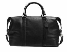New! Authentic! Coach Voyager Duffle Bag In Sport Calf Leather F54765-Black - $522.39