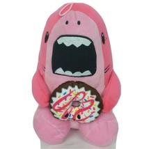 "Peek A Boo Pink Shark Holding Donut Plush Stuffed Animal 10"" - $26.42"