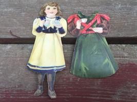 Antique J&P Coats Diecut Paper Doll Girl w Dress e.1900's Victorian Adve... - $15.79