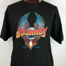 Journey Mens Black 2XL Classic Rock Band Tour 2014 T Shirt  - $26.72
