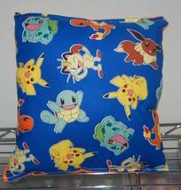 Pokemon Pillow, HANDMADE in USA, Pikachu, Anime, Manga, Video Game,  Pok... - $9.99