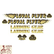 SE BIKES FLOVAL FLYER GOLD STICKERS DECAL SET - $19.79