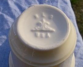 HLC White Cream Coffee Cup Mug Gold Rim Homer Laughlin