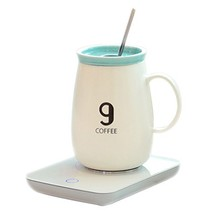 OKCafe Auto Shut Off Coffee 10.8 Ounce Coffee Mug Warmer Electric Heat C... - $32.02