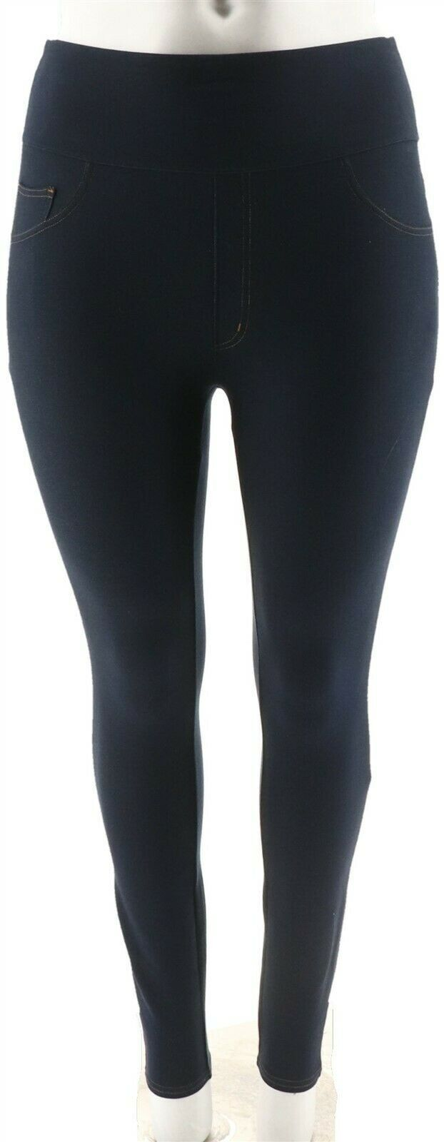 Primary image for Spanx Jean-Look Ankle Length Leggings Midnight Indigo 2X NEW A293566
