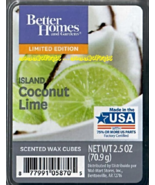Island Coconut Lime Better Homes and Gardens Scented Wax Cubes Tarts Melts - $3.50