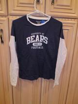 NFL Chicago Bears Women's Long-Sleeve Top, Navy Blue & White, 100% Cotton (163) - $19.99