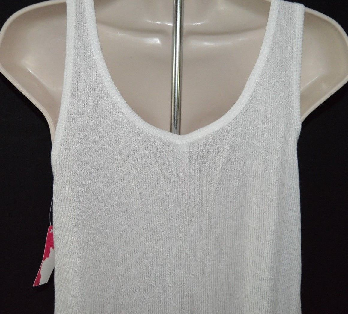 Women's Xhilaration ™Sleep Tank Top With Drawstring In Front Fresh White Size S image 7