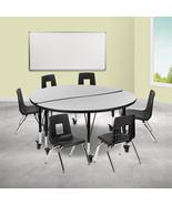 """48"""" Circle Wave Oak Table Set - $624.00"""