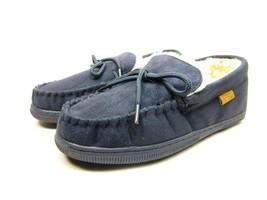 Boston Traveler  Moccasin Slippers 212M Navy Size 11 - $38.15 CAD