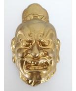 "Vintage or Antique Chinese plaster mask gold face 10"" - $80.00"