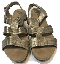 Clarks Collection Soft Cushion Sandals Bronze Slingback Womens Size 10M - $20.52