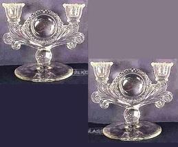 Paden City Glass Double Candlesticks Mr. B Vermillion, Pair Candelabra - $79.99