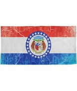 Missouri Vintage Distressed State Flag All Over Beach Towel - $26.95