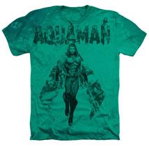 Authentic DC Comics Aquaman Movie Aqua Group Heather SOFT Adult T-shirt Sm to 2X - $26.99+