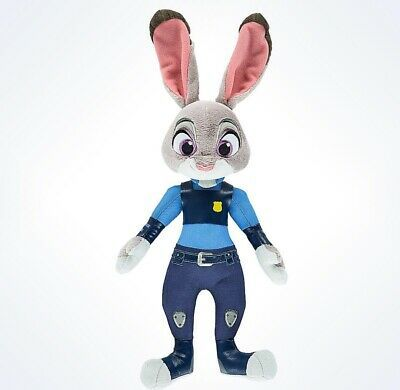 "disney parks zootopia officer judy hopps plush toy 11"" new with tags"