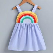NEW Rainbow Girls Blue Sleeveless Sun Dress 3T 4T 5T 6 - $10.99