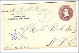 1885 Leetonia, OH Vintage Post Office Postal Cover  - $9.95