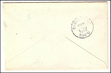 1904 Coos, NH/Oldtown, ME Discontinued/Defunct Post Office (DPO) Postal Cover