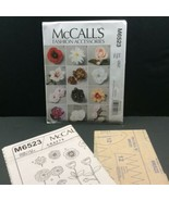 McCalls Crafts Sewing Pattern Fabric Flower M6523 Factory Folded Linda Carr - $8.66