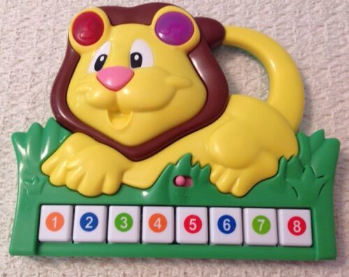 Musical Lion Toy by Manley Toys - 2011, EUC, Music and Lights, Colored Keys