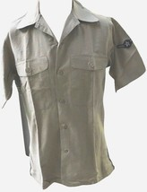 Vietnam War United States Air Force USAF Tan Short Sleeve Shirt Airman Issue Vtg - $40.49