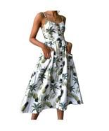 Summer Women Dress 2019 Vintage Sexy Bohemian Floral Tunic Beach Sundres... - $25.00